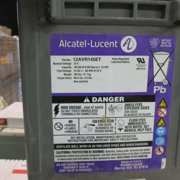 New Alcatel Lucent 145 AH Batteries