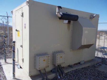 25 KW Diesel Gen Inside 8 x 12 Metal Shelter