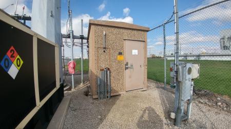 8x12 Fibrebond Concrete Shelter 1